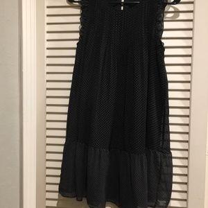 Joie Polka Dot Ruffle Dress XS 100% Silk